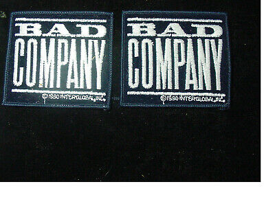 "set of 2 BAD COMPANY VINTAGE IRON PATCH 1990  HEAVY ROCK  3.25""X3""-LICENSED"