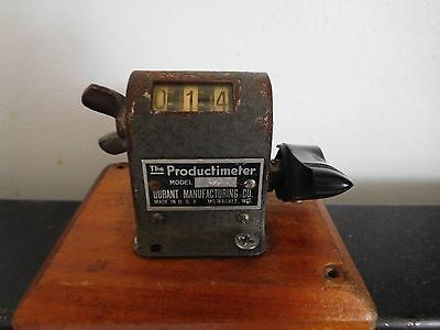 Vintage Durant Productimeter Model 3D2 Industrial Commercial Counter  Workimg