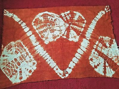 "Authentic African Handwoven Mud Cloth Size 62"" x 41.5"" Tie-dyed Mali Mud Cloth"