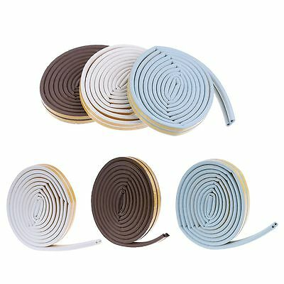 5m Tape Weather Excluder D Type Self Adhesive Foam Sponge Window Seal Strip