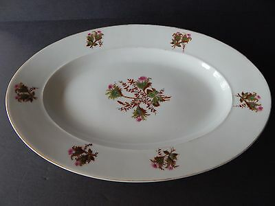 "Chas Field Haviland Limoges Moss Rose Large Serving Platter 1800's 17 3/4"" x 12"""