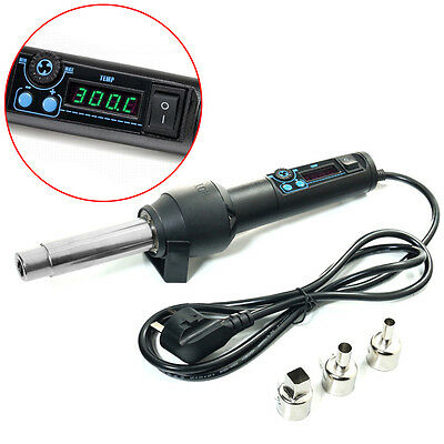 650W Heat Tool LED Display Hot Air Wind Blower Temperature Solder Station Heater