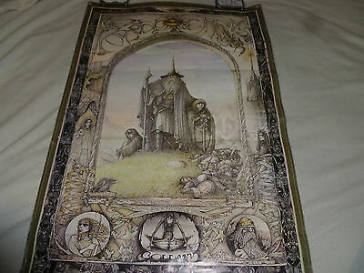 Vintage Poster Lord Of The Rings Athena International 1976 Tolkien Jimmy Cauty >