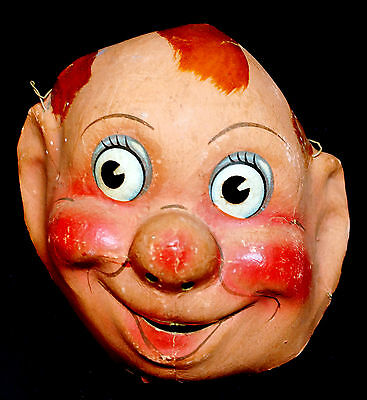 1930s French Mardi Gras (Carnival) Character Mask