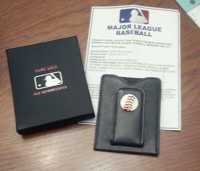 New York Yankees vs Orioles - Baseball Wallet -  Used In Game father's day gift