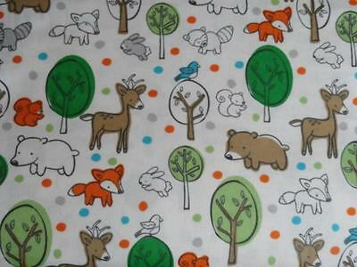 "Pack N Play Cover/flannel/ Large (27X39"") - Woodland Animals And Trees"