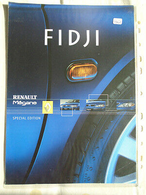 Renault Megane Fidji Special Edition brochure May 2001
