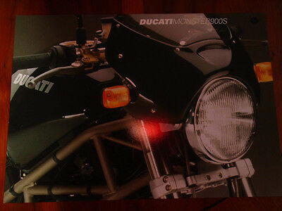 Ducati Monster 900S motorcycle brochure c1999 multi text