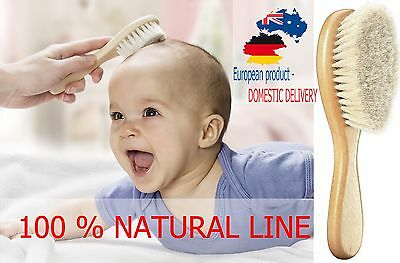 BABY HAIRBRUSH NATURAL Line NewBorn Grooming Soft Hair Brush Comb SAFETY Quality