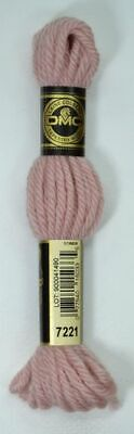 DMC TAPESTRY WOOL, 8m SKEIN, Colour 7221 VERY LIGHT SHELL PINK