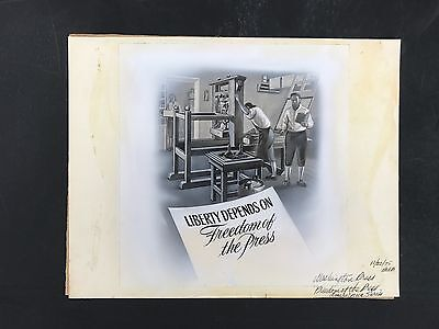 Production Artwork - Freedom of the Press, Americana Series