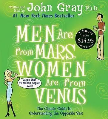 NEW Men Are from Mars, Women Are from Venus By John Gray Audio CD Free Shipping