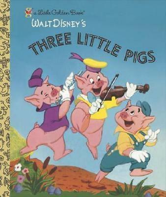 NEW Three Little Pigs By Golden Books Hardcover Free Shipping