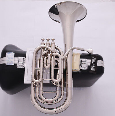 Professional JINBAO Silver nickel Bb Compensating Baritone Horn 3 Valves Piston