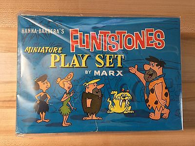 Near Mint Old Store Stock Marx Flintstones Miniature Play Set 1962 Hanna Barbera