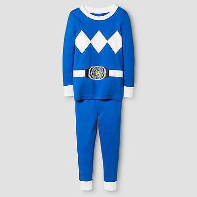 Toddler Boys' Power Rangers Long Sleeve Tight Fit 2-Piece Pajama Set Blue