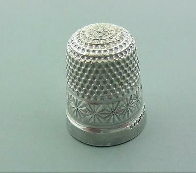 Vintage Solid Sterling Silver Thimble Childs ?