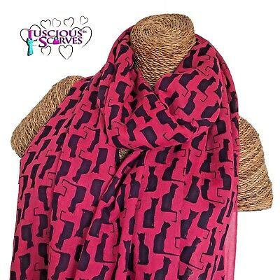 LADIES SCARF WITH CUTE COLOURFUL CATS CAT DESIGN SUPERB SOFT QUALITY