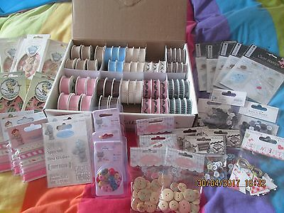 £1 Craft Shop - Ribbons - Buttons - Stamps - Bnip - Maximum Postage £3.50