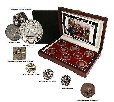8 Authentic Byzantine - Medieval Era Coins 600's to 1600s Collector Box Set