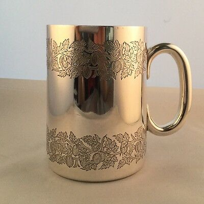 Victorian Sterling Silver One Pint Mug or Tankard, London 1890, 330.0g