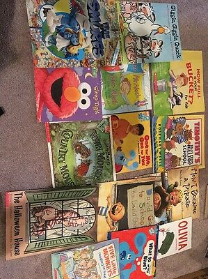 Lot of 14 Children's Picture Books David Giggle Finding Book school reading
