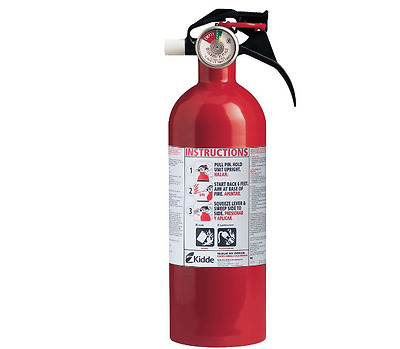 Kidde Dry Chemical Fire Extinguisher 5 B:C Class Home Office Car Emergency Carry
