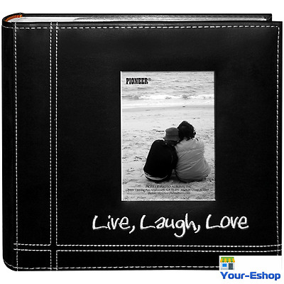 Black Photo Album 4x6 200 Photos Family Wedding Love Travel Memories Book
