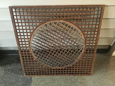 Antique Vintage Metal Grate With Circle Insert Heating Grate Architectural