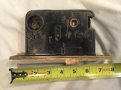Antique Yale mortise lock with thumb release and modern key way