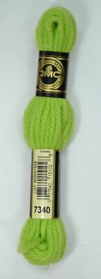 DMC TAPESTRY WOOL, 8m SKEIN, Colour 7340 LIGHT PARROT GREEN
