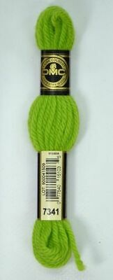 DMC Tapestry Wool, 8m SKEIN, Colour 7341 BRIGHT CHRISTMAS GREEN