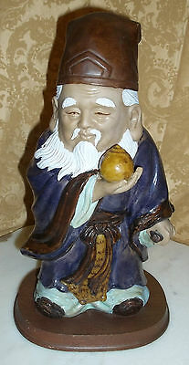 """Molded All Sided Colorful """"Merlin"""" Wizard Solid Wood Base Door Stopper Ornament"""