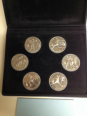 Russia~USSR   Official 6 Coin Proof Set 1992 Summer Olympics in Barcelona