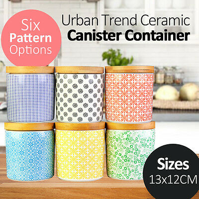 Urban Trend Ceramic Canister Container 6 Patterns