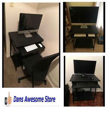 Small Computer Laptop Table Desk Home Office Furniture Student Workstation Black