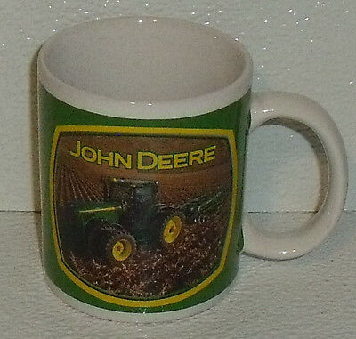 "John Deere Mug Cup Farm Equipment Tractor 3.75"" Houston Harvest"