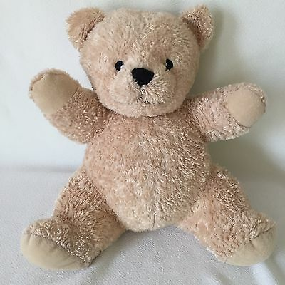 Dex Baby Plush Cream Tan Teddy Bear Heartbeat Womb Sound Crib Soother Toy 11""