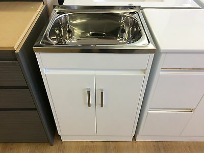 Laundry cabinets with sink, laundry tub, cabinet, cupboard,2 Pack finish