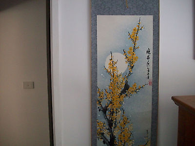 Asian Chinese Silk Antique Scrolls Large