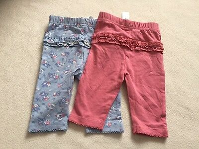 Baby Girls Clothes 0-3  Months - Cute Leggings X2 - New -