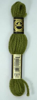 DMC TAPESTRY WOOL, 8m SKEIN, Colour 7377 DARK KHAKI GREEN (7393)