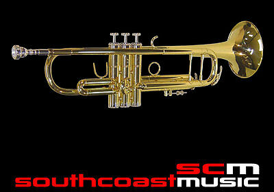 NEW Bb TRUMPET GOLD LACQUER FINISH HARD CASE 2 YEAR WARRANTY  FONTAINE FBW404