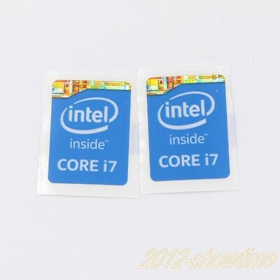 2pcs  Intel Core i7 Inside Sticker 4th Gen 15.5 x 21mm laptop Badge BLUE ST020