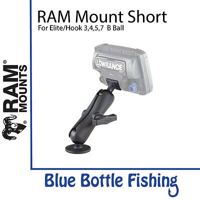 RAM Mount Short for Lowrance Elite and Hook 3/4/5 B Ball