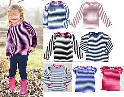 Jojo Maman bebe Breton nautical stripe girls top long short sleeve summer tshirt