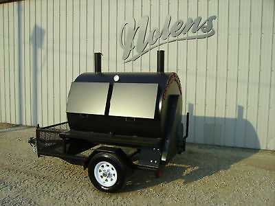 New BBQ Rotisserie Cooker Smoker Grill On Trailer BEST PRICES GUARANTEED