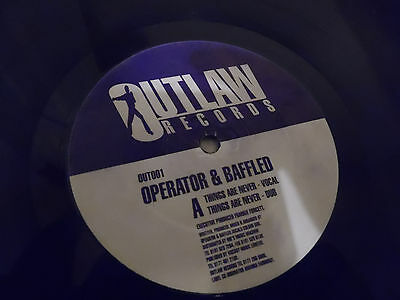 "Operator & Baffled - Things Are Never - Classic Speed Garage - 12"" 1997"