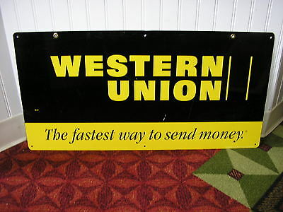 Western Union The Fastest Way To send Money Double Sided Metal Sign