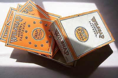 Vtg Antique Tiny Doll Size  Snap Fasteners on Cards & Rare Store Box